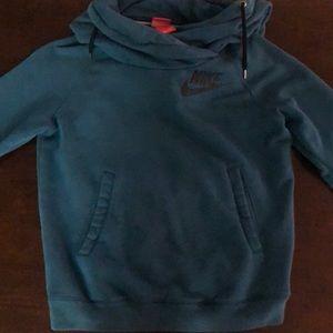 Nike funnel neck blue pullover sweatshirt